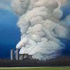 Wolken, Kraftwerk, Energie, Malerei