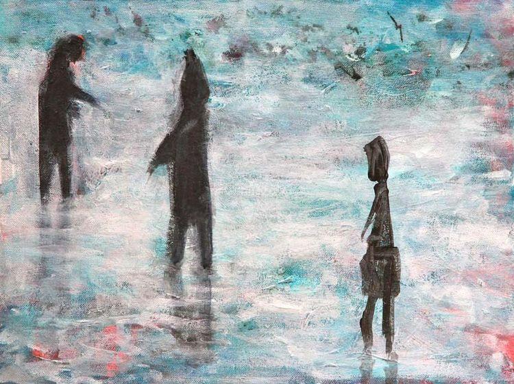 Menschen, Stimmung, Malerei