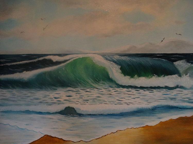 Welle, Ostsee, Malerei