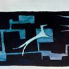 Tiere, Formen, Blau, Aquarell
