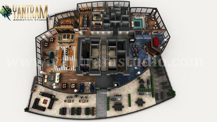 Heim, Rendering, 3d floor plan, Virtuellen, Design, Digitale kunst