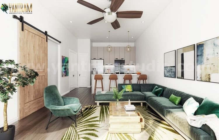 Esszimmer, Interior design, Digitale kunst, Rendering, Modern, 3d