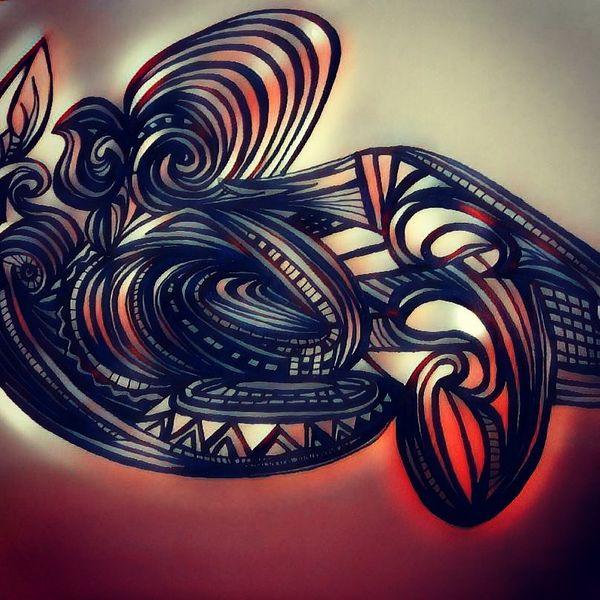 Schwungvoll, Surreal, Fantasie, Dynamik, Zeichnungen