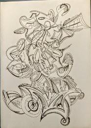 Surreal, Schwungvoll, Zeichnung, Zeichnungen