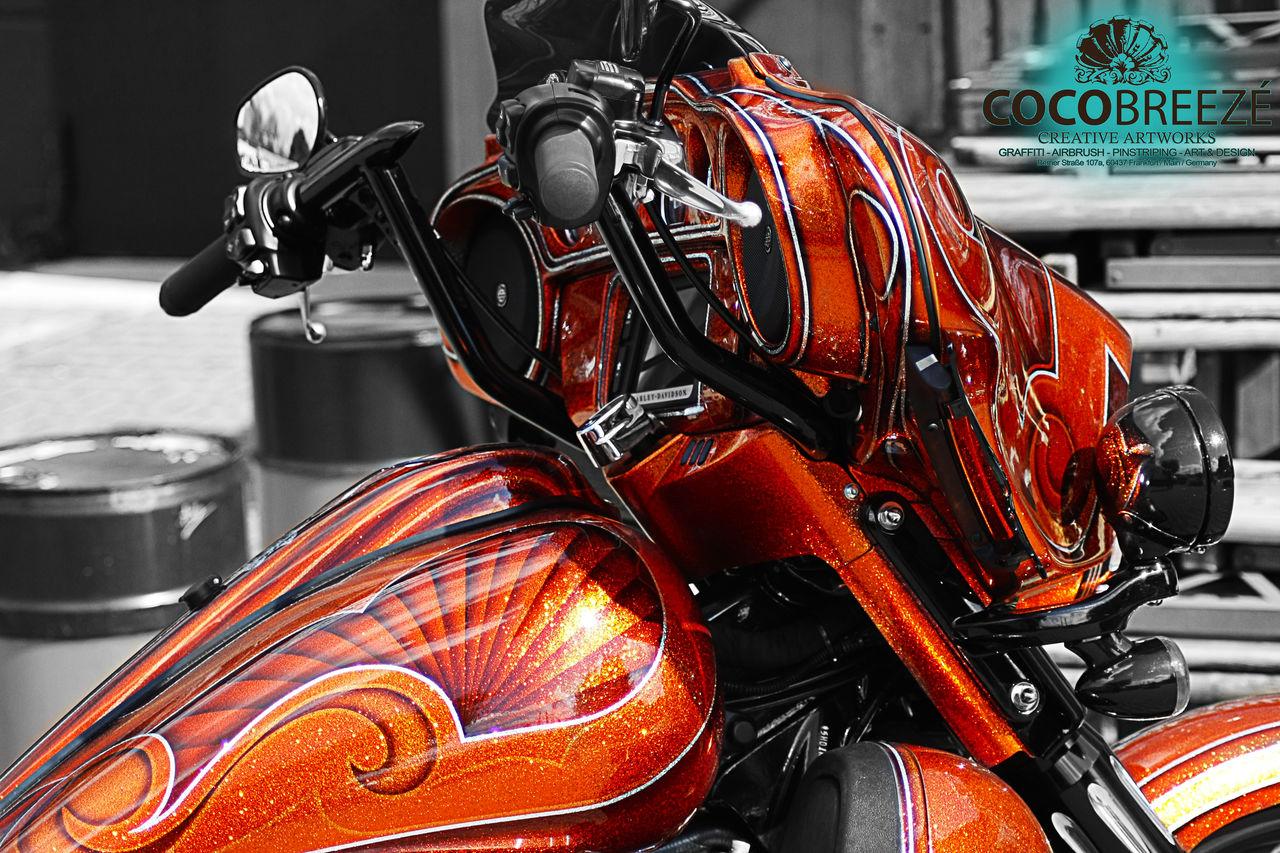 Aufwendige Metal Flake Lackierung Auf Harley Davidson Bagger