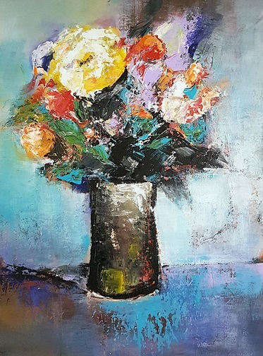 Moderne malerei, Acrylmalerei, Abstrakte malerei, Abstrakte kunst, Gemälde abstrakt, Still leben