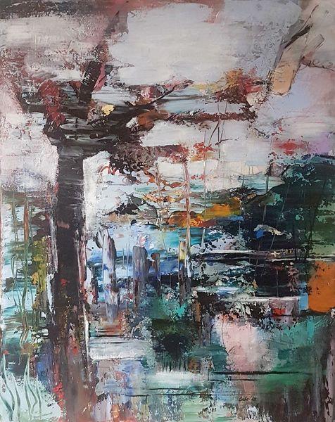 Acrylmalerei, Landschaft, Abstrakte malerei, Moderne malerei, Zeitgenössische malerei, Moderne kunst