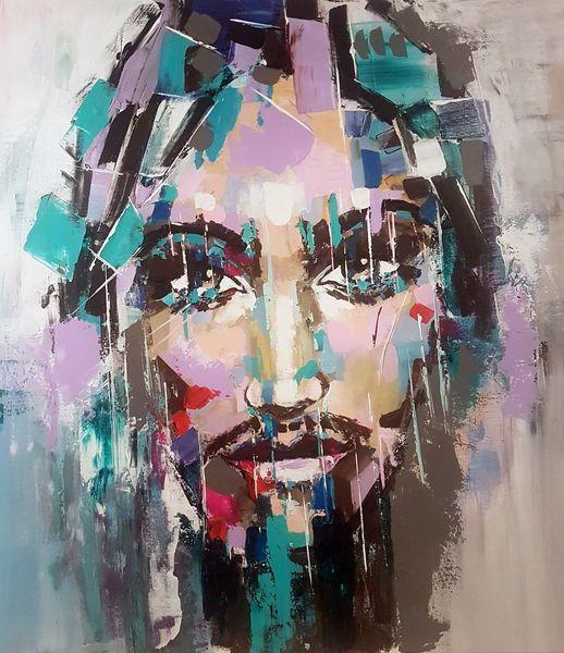 Acrylmalerei, Abstrakte malerei, Moderne malerei, Zeitgenössische malerei, Portrait, Gesicht