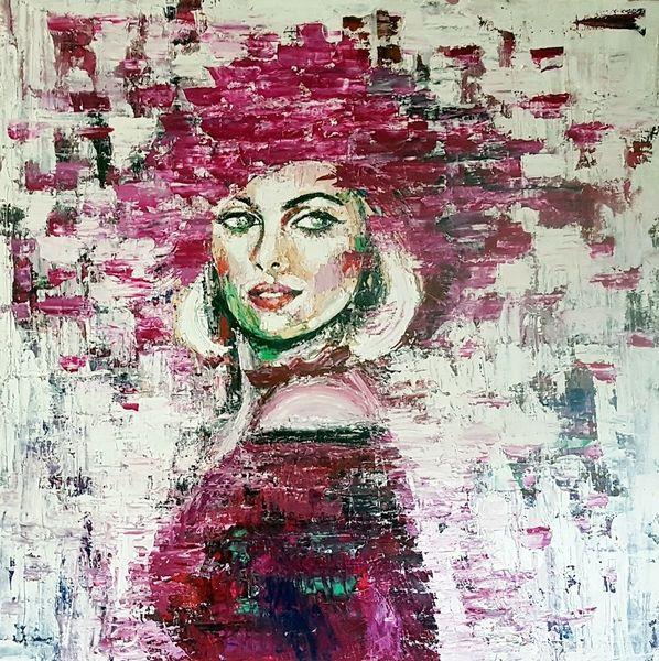 Gesicht, Öl malerei, Frau, Kunstwerk, Malerei, Figurative malerei