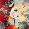 Acrylmalerei, Zeitgenössische kunst, Moderne malerei, Portrait