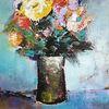 Still leben, Moderne malerei, Acrylmalerei, Abstrakte malerei