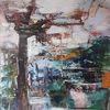 Gemälde abstrakt, Abstakte kunst, Acrylmalerei, Landschaft