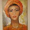 Frau, Acrylmalerei, Zeitgenössisch, Gemälde