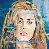 Zeitgenössische malerei, Gesicht, Malerei, Frau