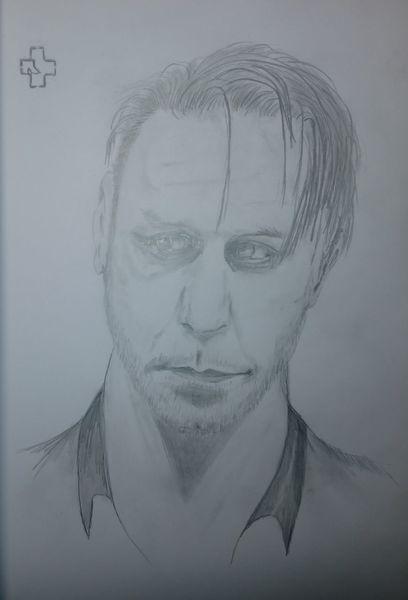 Gesicht, Zeichnung, Grafit, Zeichnungen