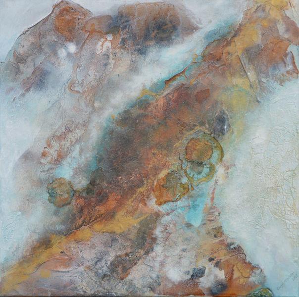 Struktur, Abstrakt, Acrylmalerei, Bilder eigene, Marmormehl, Gold