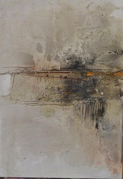 Abstrakt, Orange, Mischtechnik, Struktur, Pigmente, Marmormehl