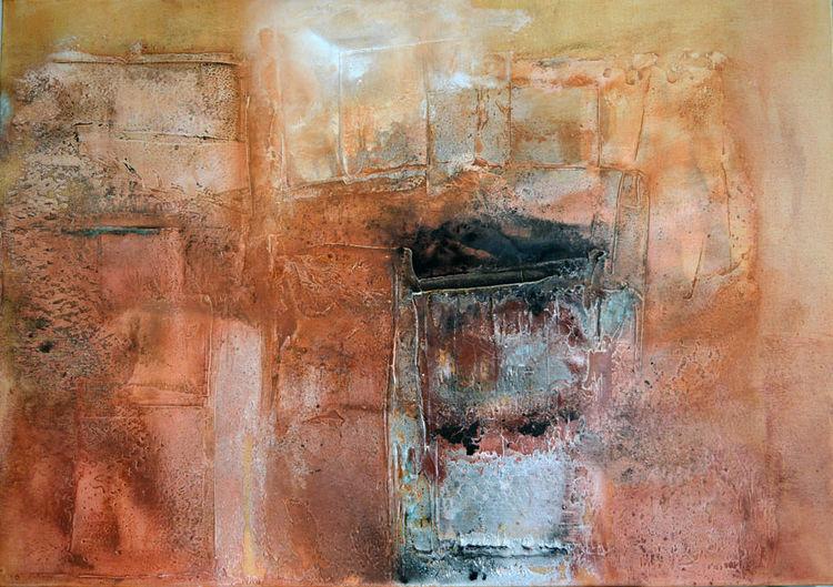 Rot, Abstrakt, Marmormehl, Orange, Struktur, Türkis