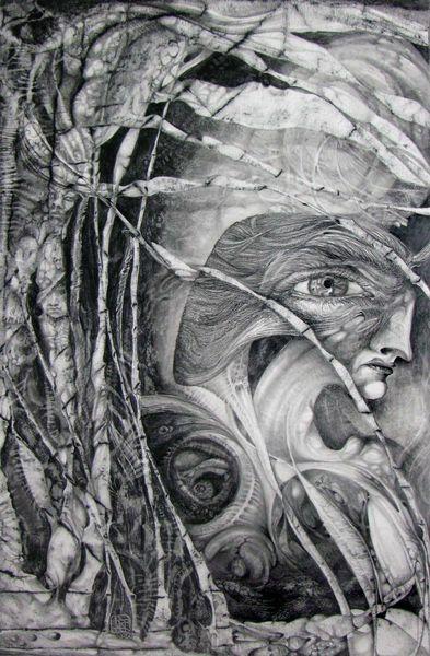 Augen, Zeichnung, Surreal, Fantasiewesen, Visionär, Mythologie
