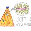 Gott, Aalwissend, Aquarellstifte, Zeichnungen