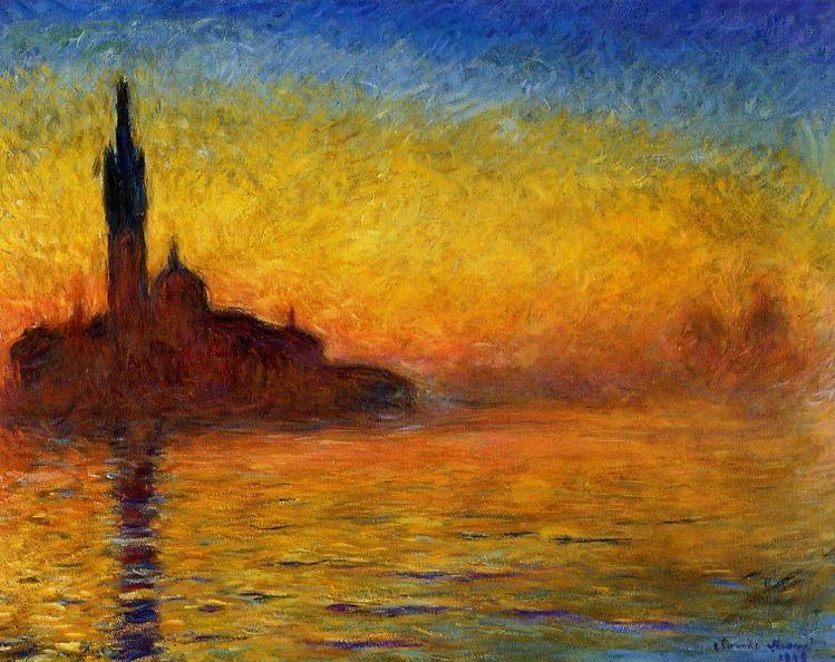 Pinnwand, Sonnenuntergang, Venedig