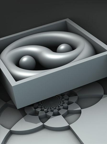 utopische r ume 4 utopie 3d minimalistisch raum von georg schmitt bei kunstnet. Black Bedroom Furniture Sets. Home Design Ideas