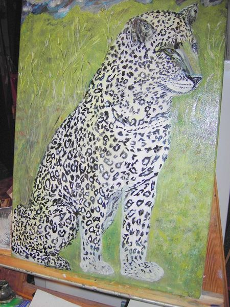 Tiere, Malerei, Leopard, Poema, Panther,