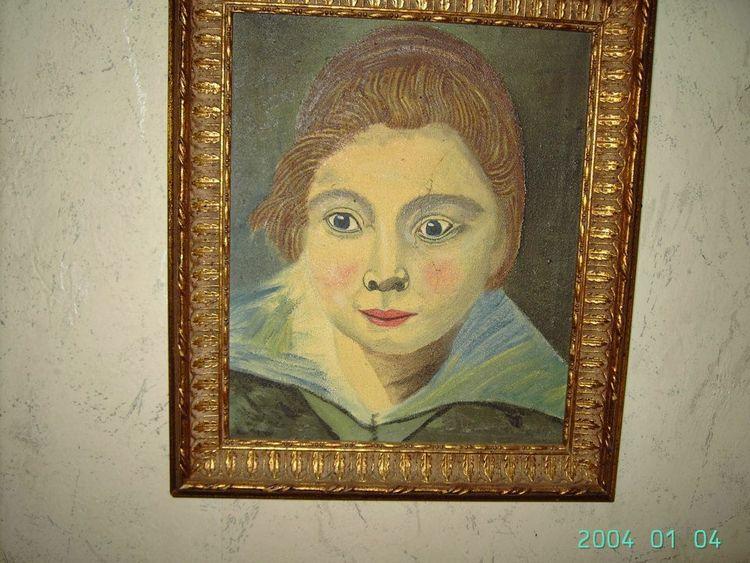 Portrait, Malerei, Menskinder kopje,