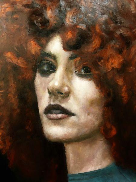 Portrait, Frau, Ölmalerei, Figurativ, Malerei