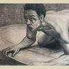 Fantasie, Mann, Kohlezeichnung, Zeichnungen