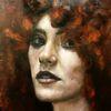 Ölmalerei, Figurativ, Portrait, Frau