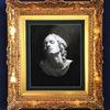 Kohlezeichnung, Portrait, Frau, Schwarz weiß
