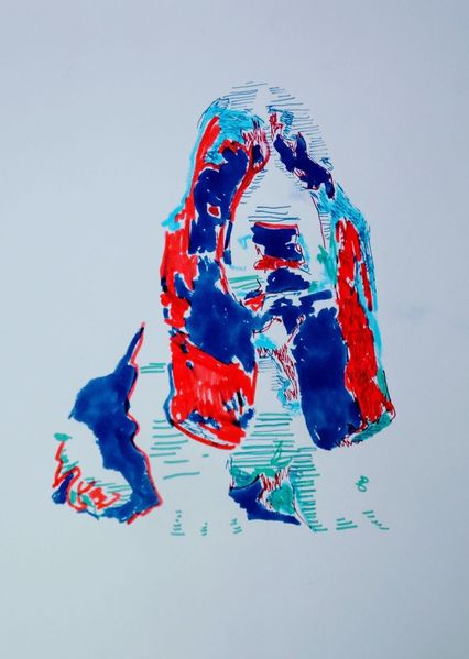 Hund, Haustier, Bassethound, Illustrationen,