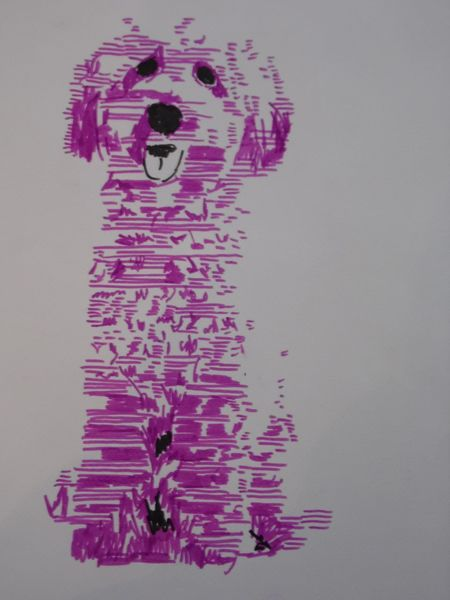 Hund, Abstrakt, Pop art, Copic, Zeichnung, Portrait