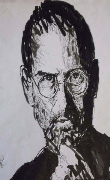 Zeichnung, Steve jobs, Portrait, Copic, Marker, Illustrationen