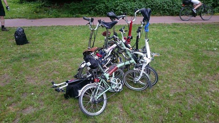 Brompton, Skulptur, Fahrrad, Falträder, Fotografie