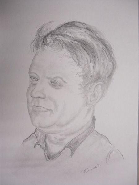 Freunde, Mann, Bleistiftzeichnung, Zeichnungen