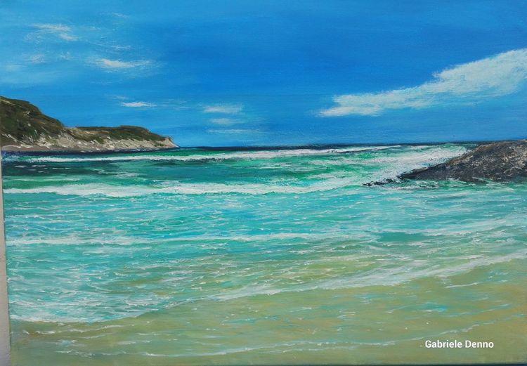 Meer, Welle, Strand, Mallorca, Malerei