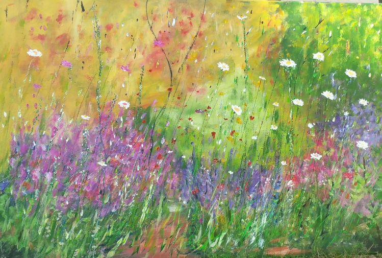 Impressionismus, Sehnsucht, Blumengarten, Kunstsammler, Kunstwerk, Hortensien
