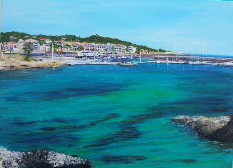 Hafen, Mallorca, Mittelmeer, Boot, Calaradjada, Malerei