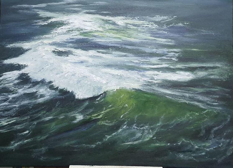 Ozean, Brandung, Gemälde, Pazifik, Meer, Gabrieledenno