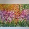 Kunstwerk, Wandbilder, Blumengarten, Kunstgeschichte
