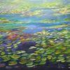 Gemälde, Natürlich, Teich, Kunstverkauf