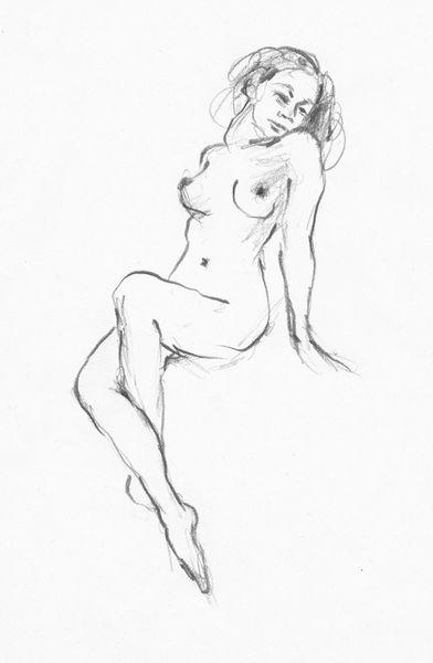 Akt, Zeichnung, Frau, Grafit, Zeichnungen