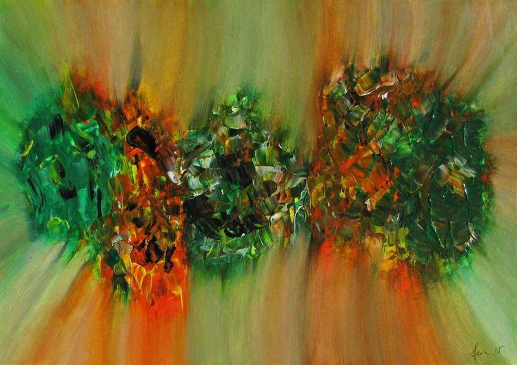 Zeitgenössisch, Modern, Farben, Moderne kunst, Malerei