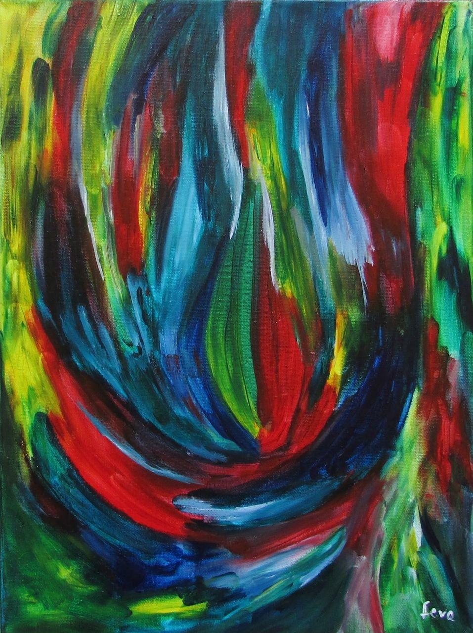 Bild: Farben, Zeitgenössische malerei, Moderne kunst, Abstrakt von ...