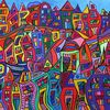 Farben, Acrylmalerei, Wandbild, Bunt