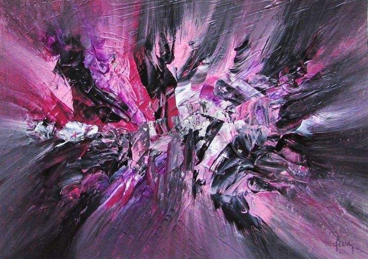 Moderne kunst, Zeitgenössisch, Bunt, Malerei, Modern, Acrylmalerei