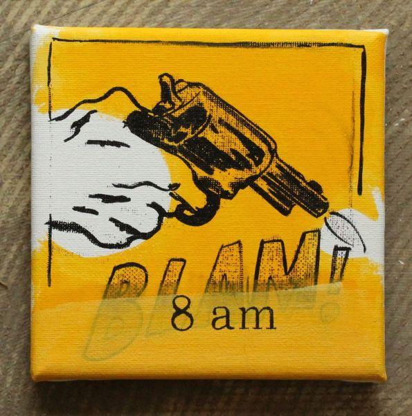Gelb, Text, Zeit, Waffe, Malerei