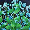 Natur, Vergissmeinnicht, Acrylmalerei, Blumen